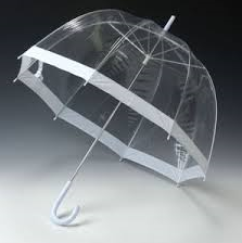 Parapluie transparent imperméable